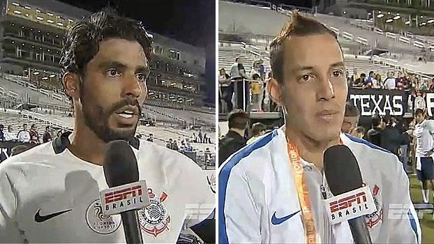 Vilson e Rodriguinho comemoram goleada na Flórida: 'Ficamos animados de começar bem'