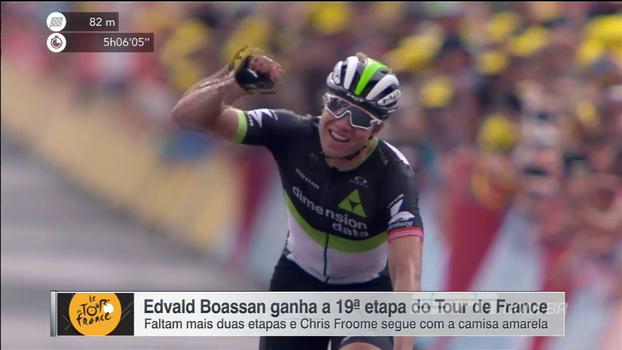 Veja as imagens da 19º etapa do Tour de France, vencida por Edvald Boasson Hagen