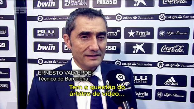 Prejudicado por arbitragem contra o Valencia, Valverde dá aula de comportamento: 'Em outro jogo fomos beneficiados'