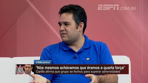 Bertozzi destaca partida de Jô e vê 'respiro' a Carille em possível título do Corinthians