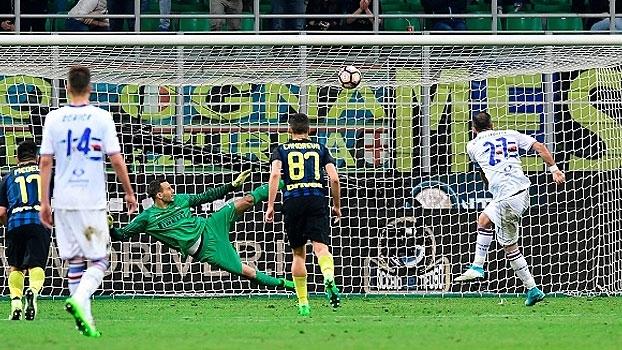 Italiano: Gols de Internazionale 1 x 2 Sampdoria