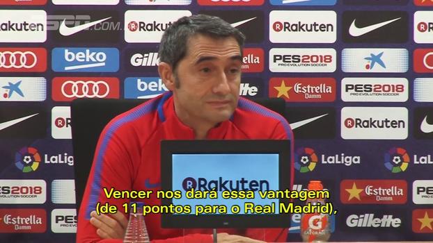 Ernesto Valverde admite já pensar no Real Madrid, mas garante foco no Deportivo La Coruña