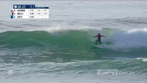 Lacomare avança às quartas e Caio Ibelli vai para a repescagem na etapa da França do Mundial de surfe