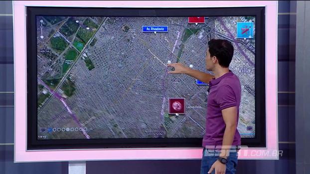Passando por estádios e região 'onde eles mandam': veja caminho que gremistas farão de Buenos Aires a Lanús