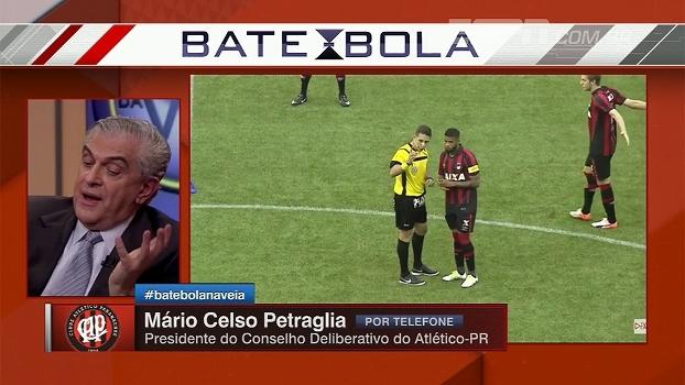 Petraglia explica transmissão do Atletiba via internet e cita luta contra divisão de cotas injusta