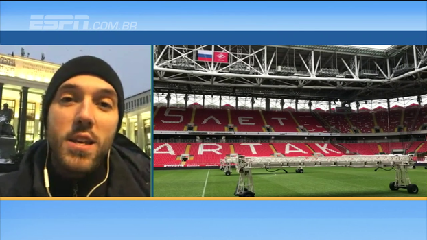 Da Rússia, Hofman fala sobre estádio que a seleção vai jogar e ter torcida contra