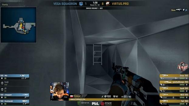 PGL Kraków: Snax acerta belo 'one tap' no duelo contra a Vega