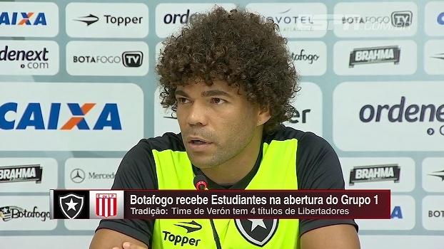 Para Camilo, a pausa do campeonato argentino deve atrapalhar Estudiantes: 'Vimos no San Lorenzo a falta de ritmo'
