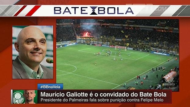 'Indignação total'; Presidente do Palmeiras detona punição a Felipe Melo: 'Falta total de critério'