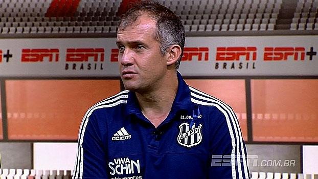 Eduardo Baptista analisa derrota no domingo e vê Santos como a melhor equipe do campeonato no momento