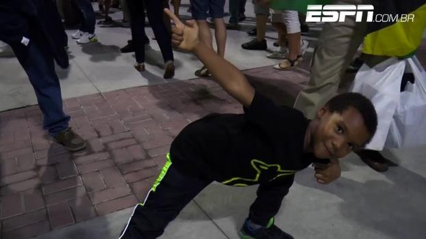 Jamaicanos visitam Brasil para ver Bolt e se surpreendem com carinho da torcida: 'Herói mundial'