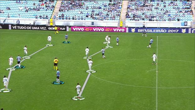 Veja como o Grêmio trabalhou muito a bola contra a Chape, mas foi pouco incisivo