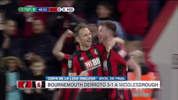 Bournemouth vence Middlesbrough e se classifica na Copa da Liga Inglesa