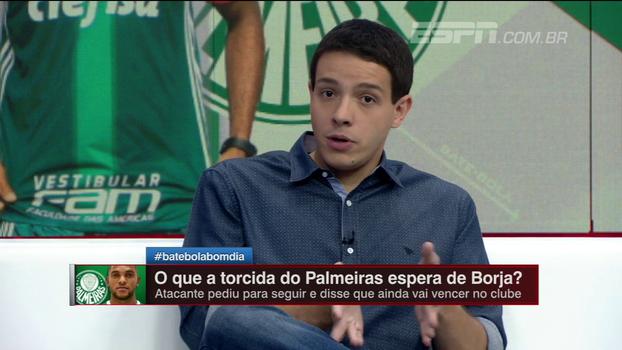 Rafa Oliveira cita estilo de mais posse do Atlético Nacional para explicar fase de Borja no Palmeiras