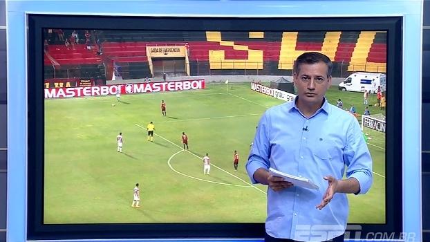 Salvio analisa gol anulado em clássico pernambucano: 'Juiz errou, o gol foi legal'