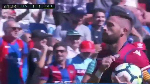Assista aos gols do empate entre Levante e Getafe em 1 a 1!