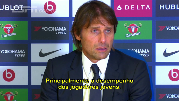 Após vitória sobre o Everton, Conte elogia jogadores jovens: 'Estou muito feliz'