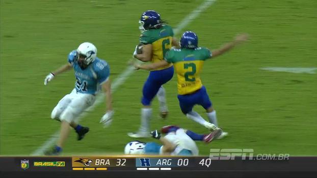 98b8a29fd Futebol americano  Brasil atropela Argentina e vence por 38 a 0 - ESPN