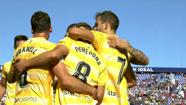 Assista aos gols da vitória do Girona sobre o Levante por 2 a 1!