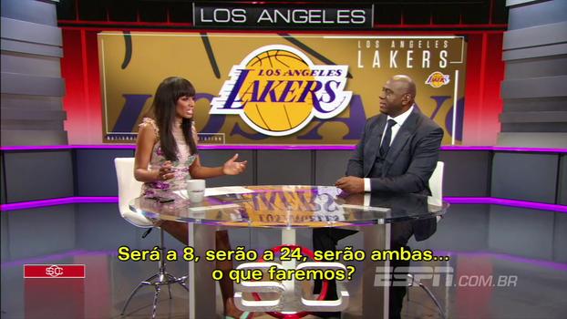 Magic Johnson diz o que mais admira em Kobe e fala sobre a aposentadoria de sua camisa: 'É ele quem decide'