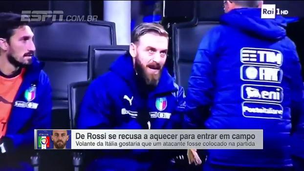 De Rossi se recusa a aquecer e pede a entrada de Insigne contra a Suécia; entenda