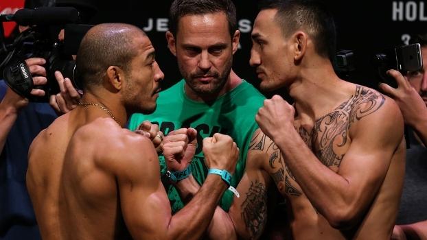 Veja a encarada de José Aldo e Max Holloway antes do UFC 212