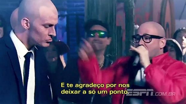 Invencibilidade quebrada, Sérgio Ramos e mais: sósias de Zidane e Sampaoli fazem rap imperdível