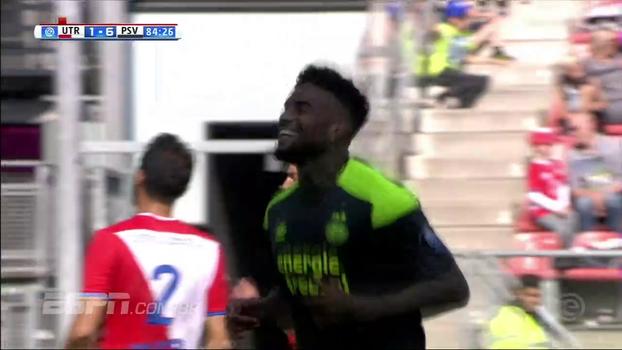 PSV enfia 7 a 1 no Utrecht e segue na liderança do Campeonato Holandês; veja os gols