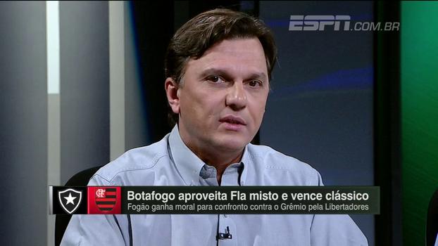 Mauro destaca como Botafogo 'tira mais' de sua equipe e detona campanha do Fla: 'Time que aceita a derrota'