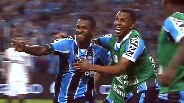 Tempo real: GOL do Grêmio! Everton cruza, e bola sobra para Bolaños marcar