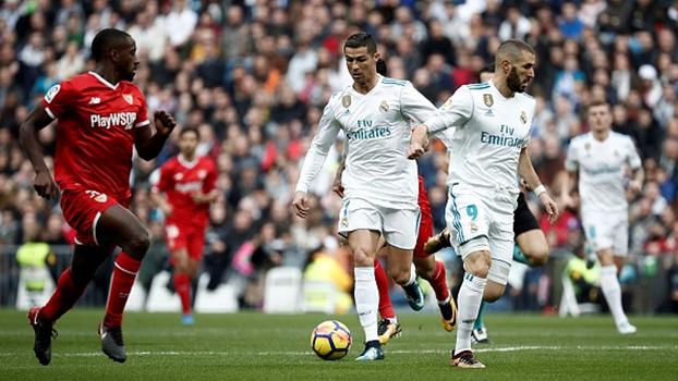 Veja os melhores momentos da vitória do Real Madrid sobre o Sevilla por 5 a 0 em LaLiga