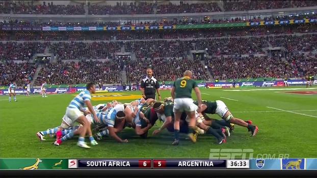 Na primeira rodada do Rugby Championship, África do Sul vence Argentina em casa
