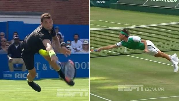 Dimitrov e Thiem se atiram e dão voleios espetaculares em suas vitórias no ATP de Queens