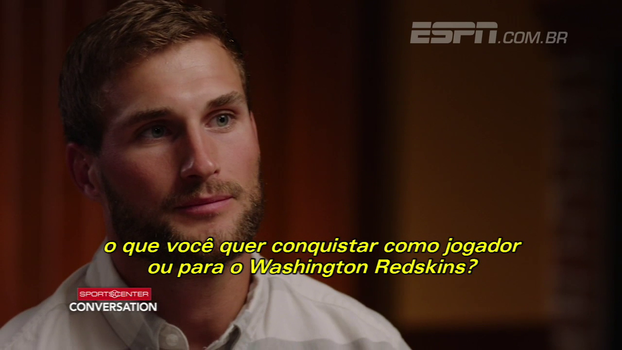 Kirk Cousins cita Montana e Manning e fala em querer jogar a carreira inteira nos Redskins