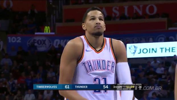 Passou vergonha: Ele joga no Oklahoma City Thunder e provou ser especialista em 'air ball'
