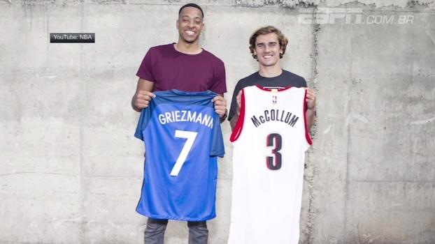Griezmann desafia CJ McCollum ao imitar jogadores da NBA