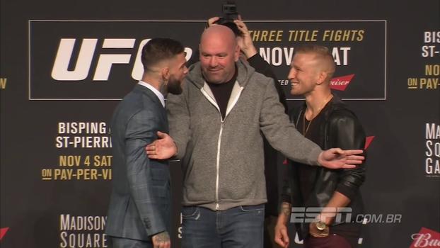 Cody Garbrandt e TJ Dillashaw precisam ser separados por Dana White em encarada do UFC 217