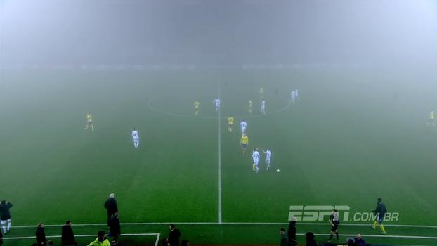 Em jogo com muita neblina, Zlín e Copenhagen empatam por 1 a 1 na República Tcheca