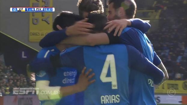 PSV goleia quarto colocado do Campeonato Holandês e abre cinco pontos do vice-líder