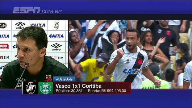 Zé Ricardo fala sobre desfalques do Vasco e vê 'resultado justo' em empate