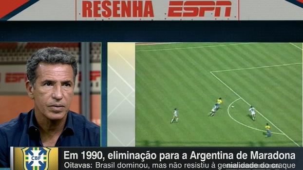 Careca fala sobre eliminação para a Argentina em 90: 'Precisava treinar menos'