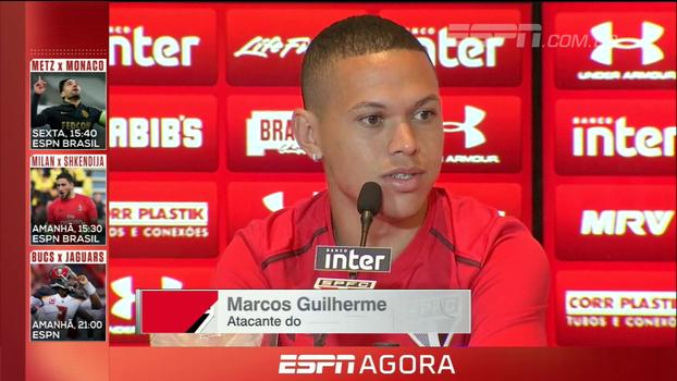 Marcos Guilherme destaca semana cheia de treinamentos e cita importância do jogo contra Avaí