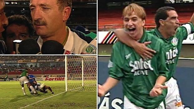 Com gols de Paulo Nunes e Oséas, Palmeiras venceu Cruzeiro e conquistou a Copa do Brasil de 98