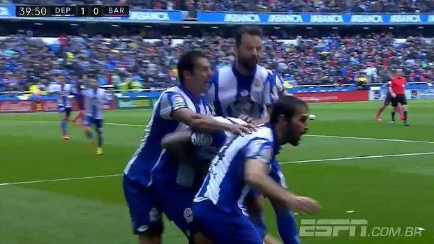 Tempo real: GOL do Deportivo la Coruña! ter Stegen solta bola na pequena área, Joselu pega sobra e abre placar