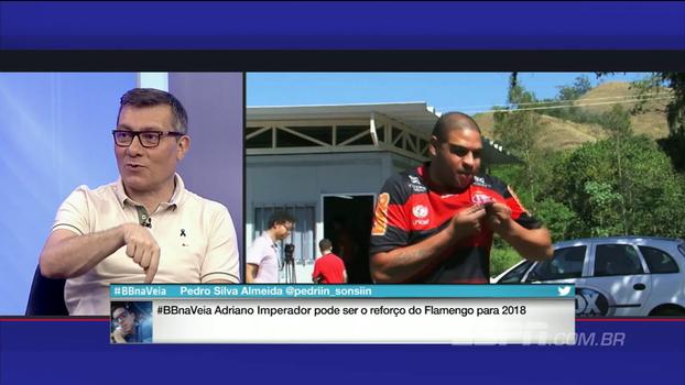 Adriano de volta? Calçade não crê em recuperação: 'Não é a solução para o Flamengo'