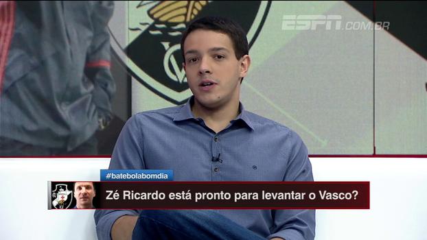 Rafael Oliveira vê Zé Ricardo como bom nome para o Vasco mas cita realidade do clube contra o rebaixamento