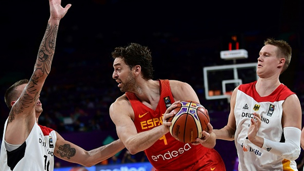 Irmãos Gasol combinam para 47 pontos, e Espanha bate Alemanha de Dennis Schroder no Eurobasket