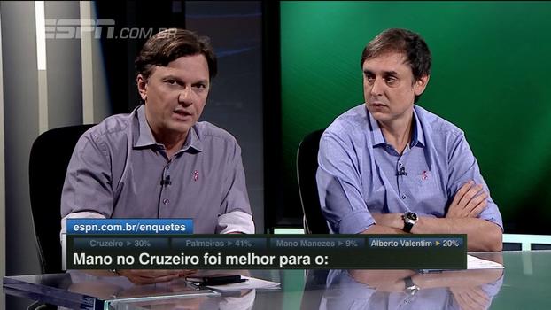 Mauro informa que não há técnico na mira do Palmeiras e diz que Alberto Valentim tem chance de ficar: 'Só depende dele'