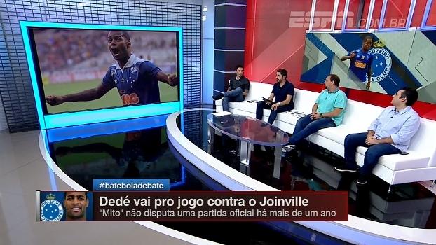 Dedé jogou muito pouco desde que chegou ao Cruzeiro; BB Debate analisa números do zagueiro