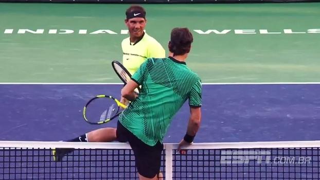 De abraço em gandula a Federer pulando a rede: veja os momentos mais engraçados de Indian Wells